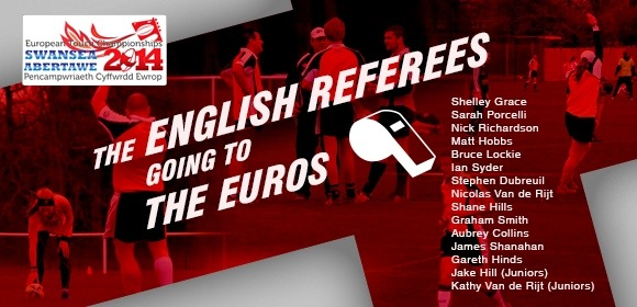 England's Referees heading to European Championships 2014