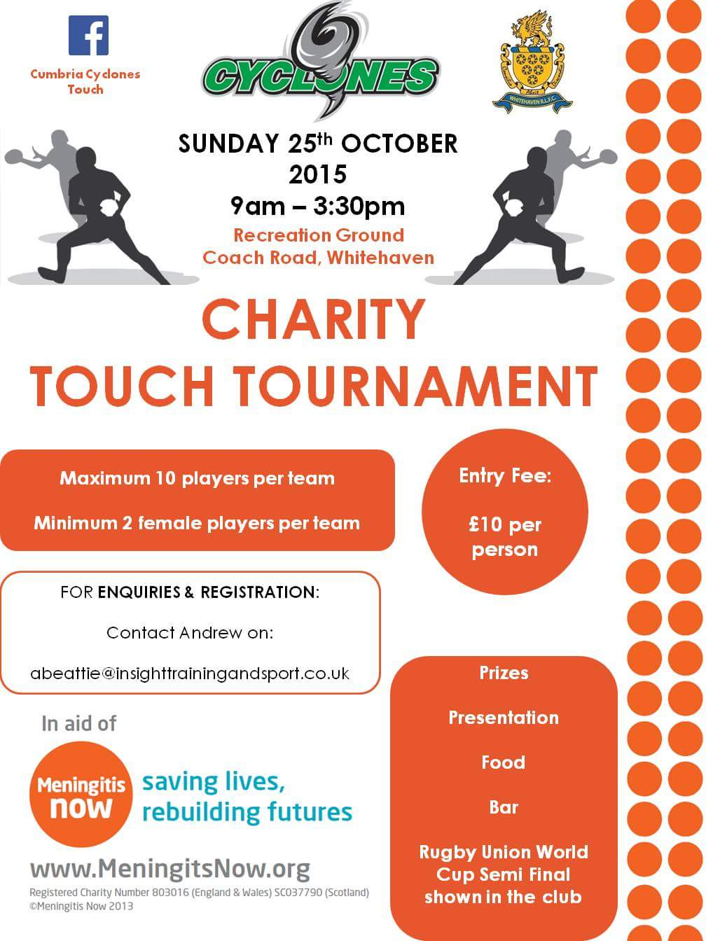 Cumbria Cyclone Charity Touch Tournament