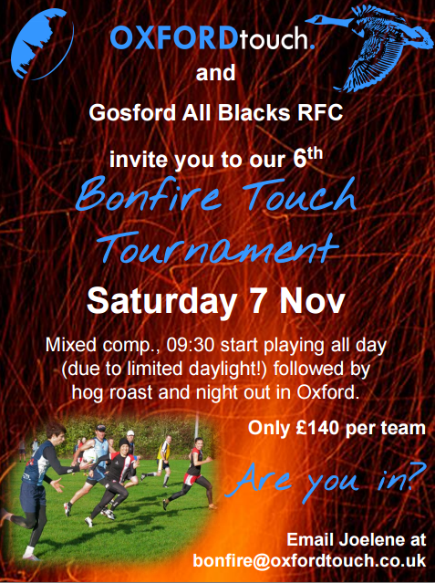 Oxford Bonfire Tournament