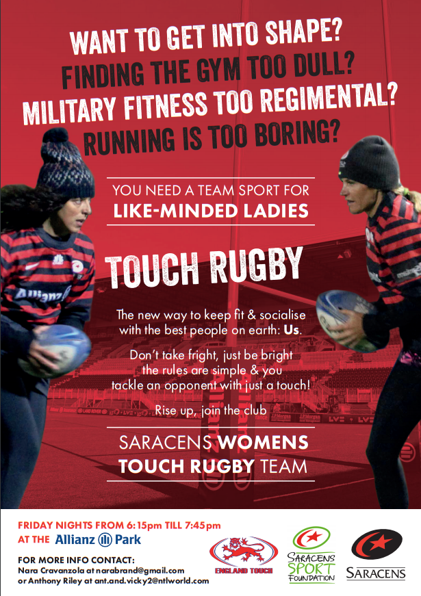 Saracens Touch Club - Seeking Women
