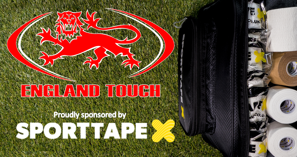 SPORTTAPE and England Touch Renew Partnership Through 2016/17