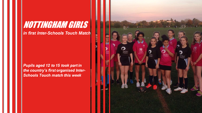 Nottingham girls in first Inter-Schools Touch Match