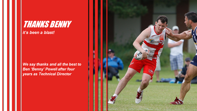 England Touch says thanks and all the best to Benny Powell