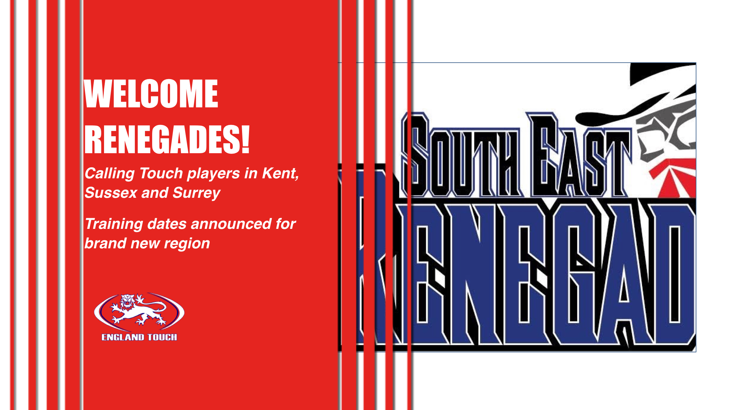 South-East Renegades - new region training sessions announced