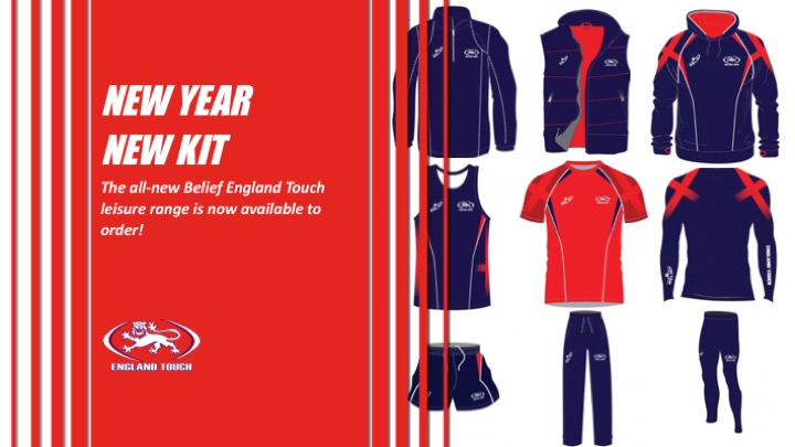 Belief Sports England Touch leisure range now on sale!