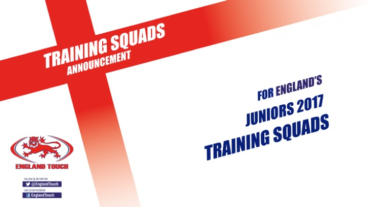 England Junior squads announced
