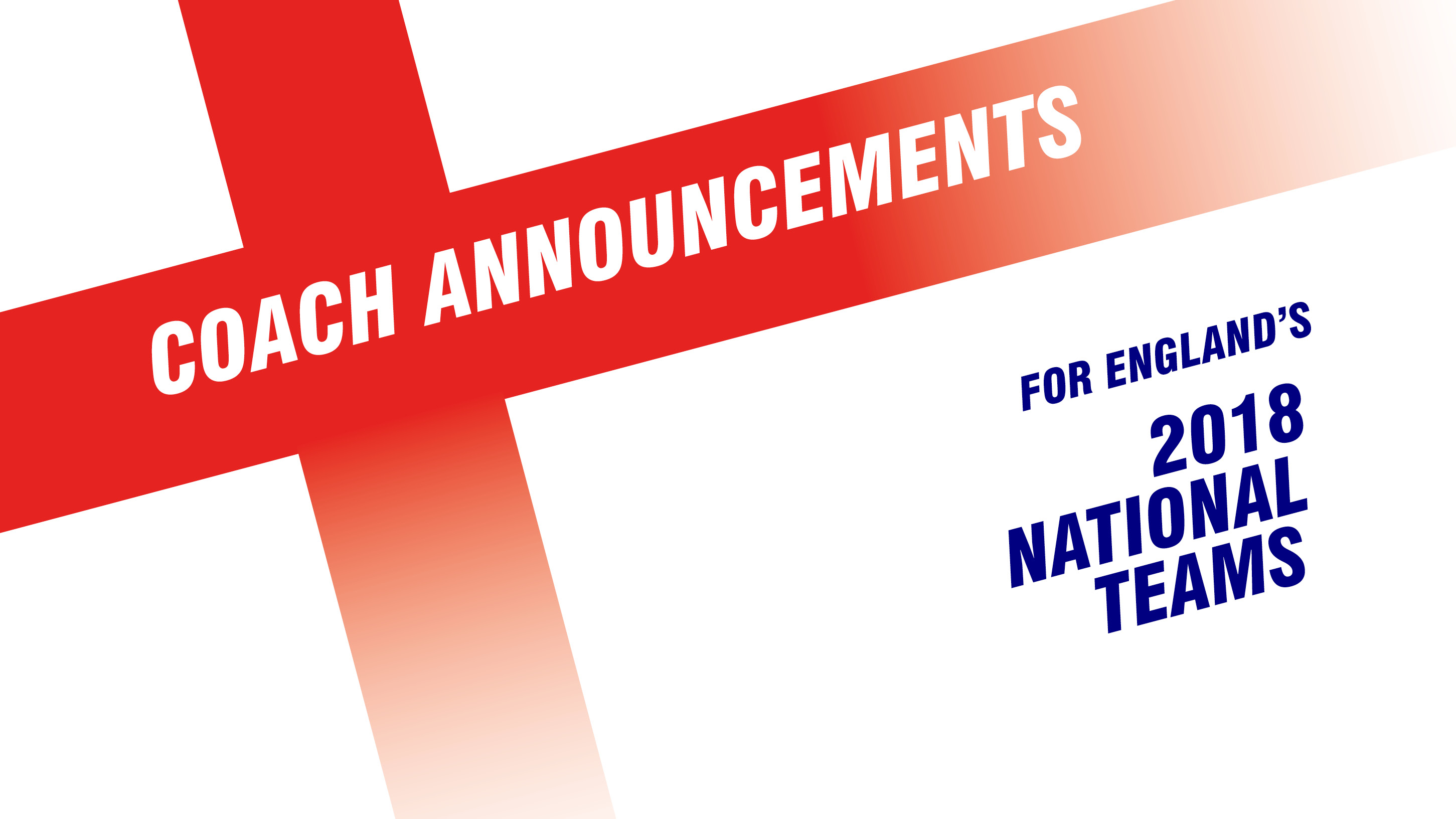 England national head coaches announced