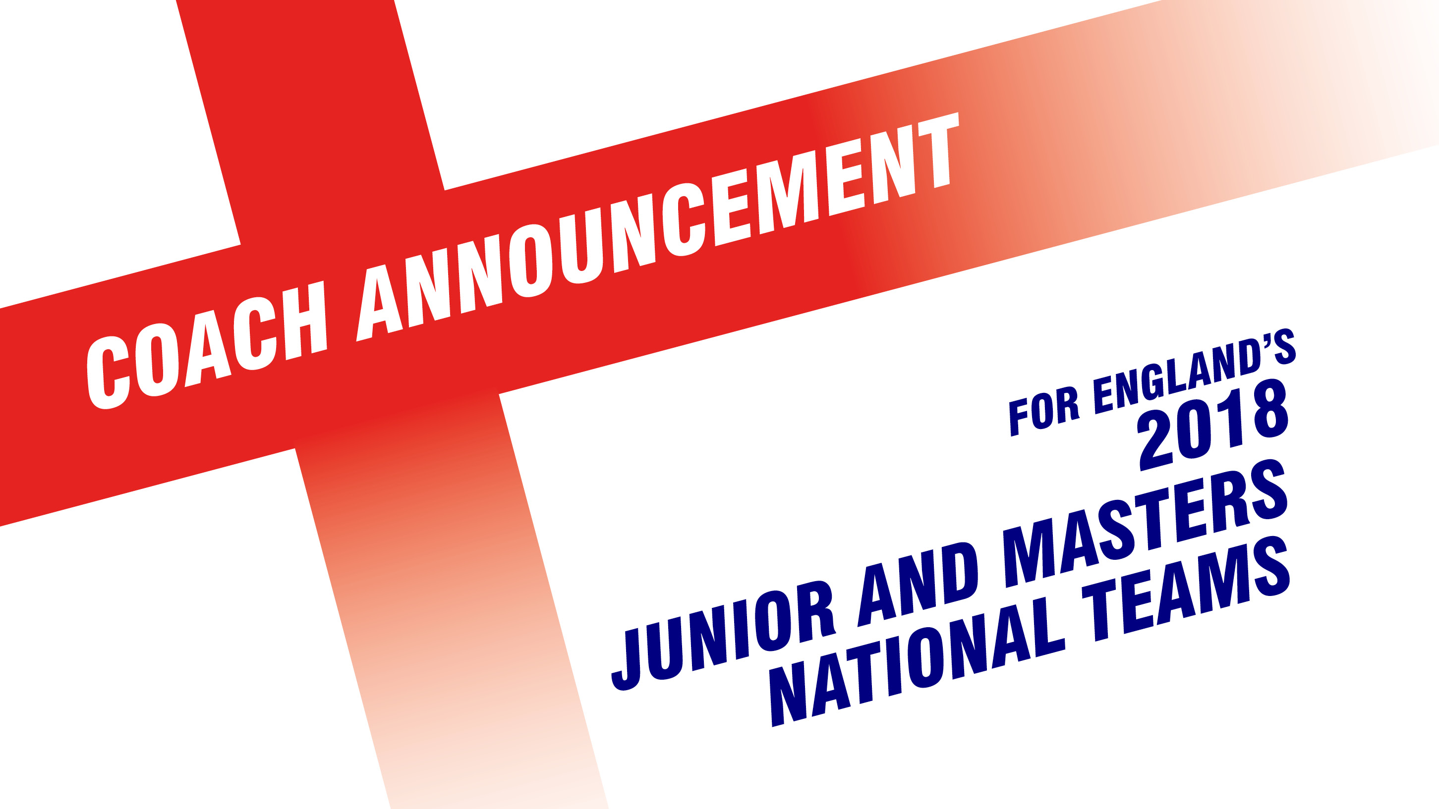 England Junior and Masters coaches announced