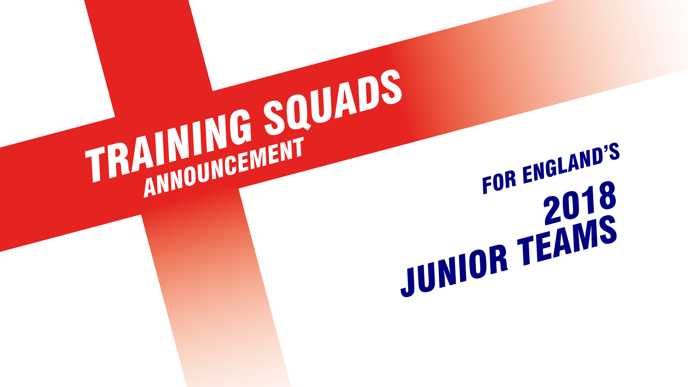 Junior High Performance Training Squads announced