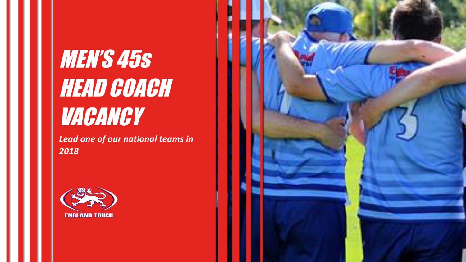 Men's 45s head coach vacancy