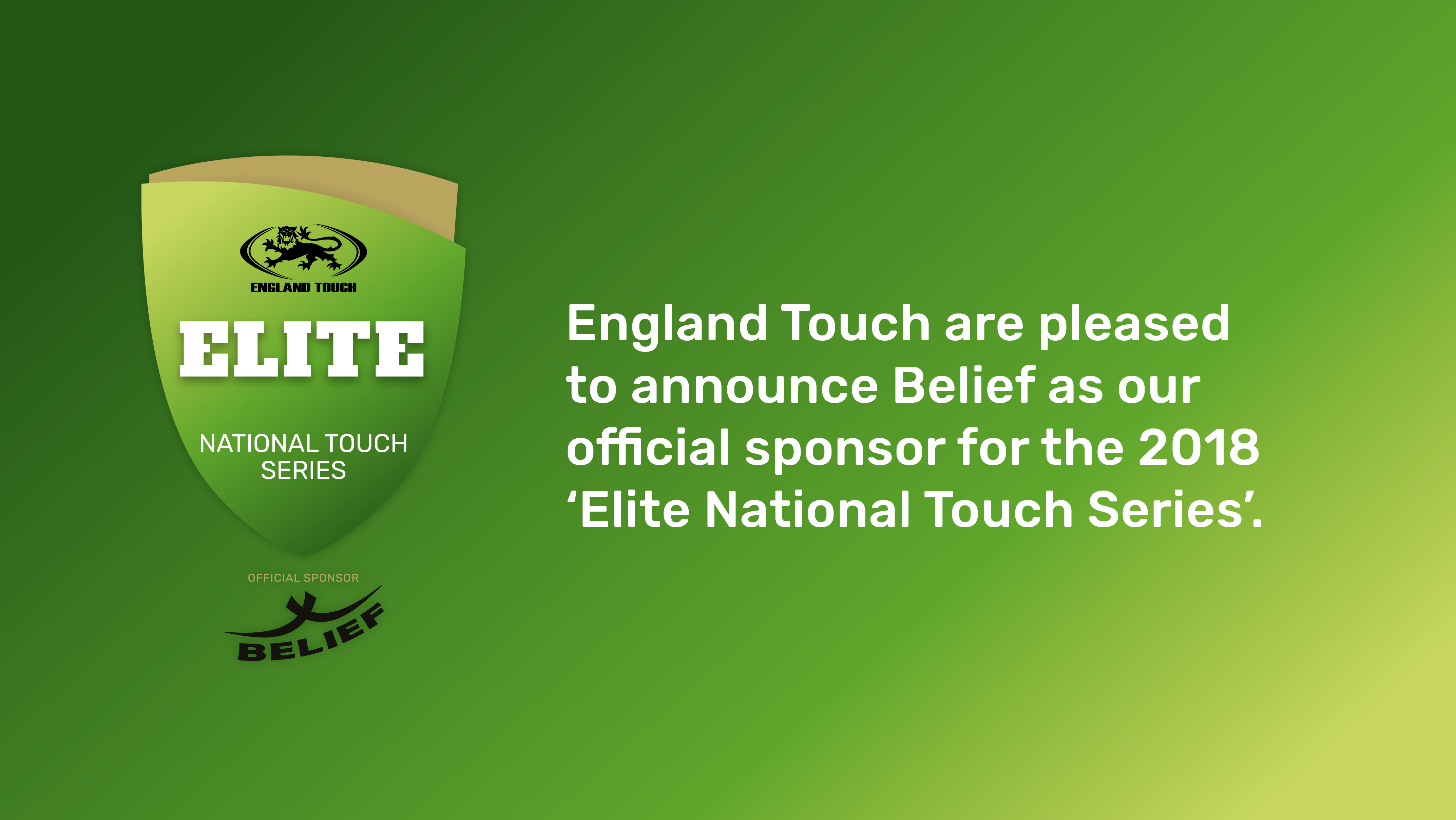 Belief Sports continuing with Elite National Touch Series sponsorship