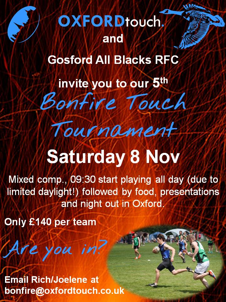 Oxford 'Bonfire' Touch Tournament 2014