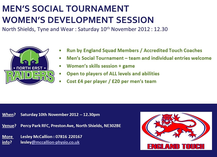 North East - Touch Development and Comp