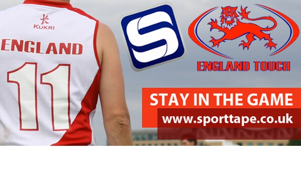 SPORTTAPE backs England Touch: 20% discount deal